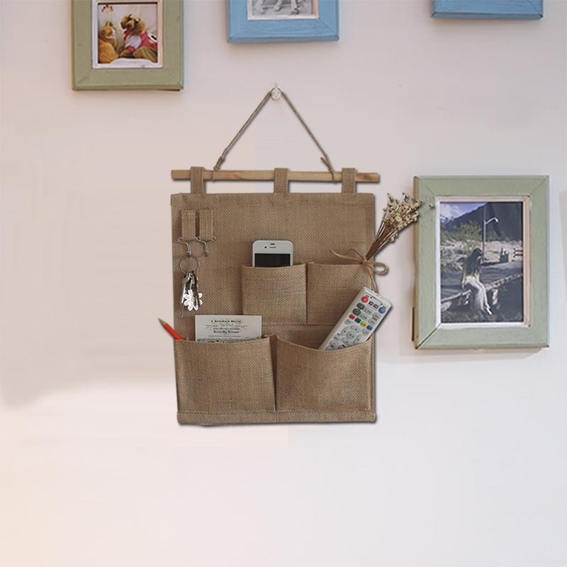 New Design Convenient Home Organizer Holder Multi-Pocket Travel Storage Bag Hanger 4 Pockets