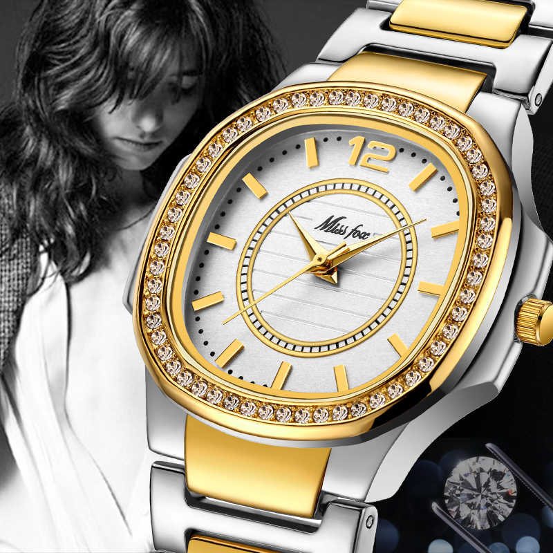 6117072d87a6 ... MISSFOX Best-Seller Watches Dropshipping New 2018 Hot Selling Cost  Glitter Watch Bling Hodinky Golden