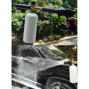 """Image 2 - Multifunções lavadora de pressão de água limpa carro espuma pistola jato lavagem 1/4 """"liberação rápida estilo do carro ajustável neve lança espuma ferramenta"""
