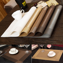 10PCS PVC Insulation Bowl Placemats Dining Pad Western Table Mats Coaster For Kitchen Sales 4 colors