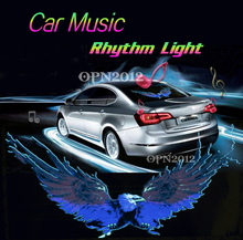50x25cm Car Sticker Colourful EL Sound Activated Equalizer Music Rhythm LED Flash Light Lamp Decoration LED EL Sheet Light 2294
