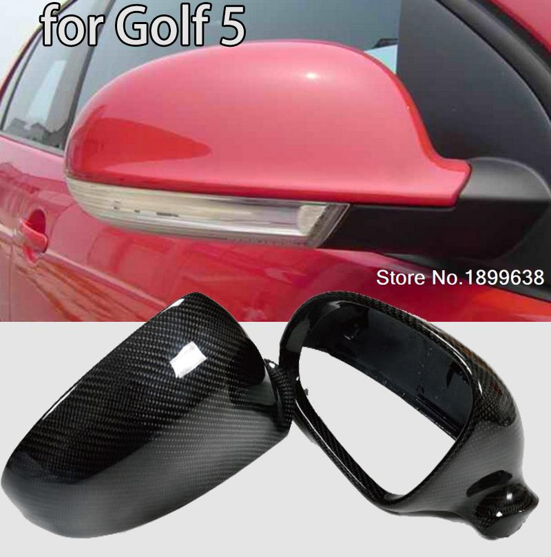 NEW 1:1 Replacement Carbon Fiber Rear View Mirror Cover car styling For Volkswagen VW Golf 5 2003 - 2009 Without LaneAssit akg k271 mkii