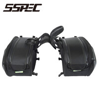 Brand Carbon Fiber Waterproof Moto Tail Luggage Suitcase Saddle Bag Motorcycle Side Helmet Riding Travel Bags With Rain Cover