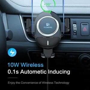 Image 2 - FLOVEME Qi Caricabatteria Da Auto Senza Fili Per il iPhone X 8 10W Veloce Senza Fili di Ricarica Per Samsung Galaxy S9 S8 Del Telefono supporto Caricatore Da Auto