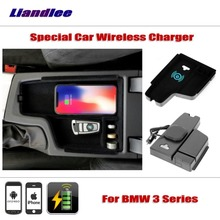 Liandlee For BMW 3 Series 316 320li Special Car Wireless Charger Armrest Storage iPhone Android Phone Battery