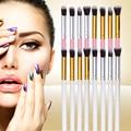 4PCS High Quality Pro Soft Synthetic Hair Flat Top Brush Tapered Top Brush Set Makeup Brush Kit Eyeshadow Concealer Brushes