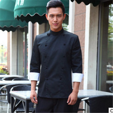 2017 Hot Long Sleeved Hotel Restaurant Kitchen Men Chef Uniform Spring and Summer Cook Uniform Chef Jacket Cook Clothes CP02