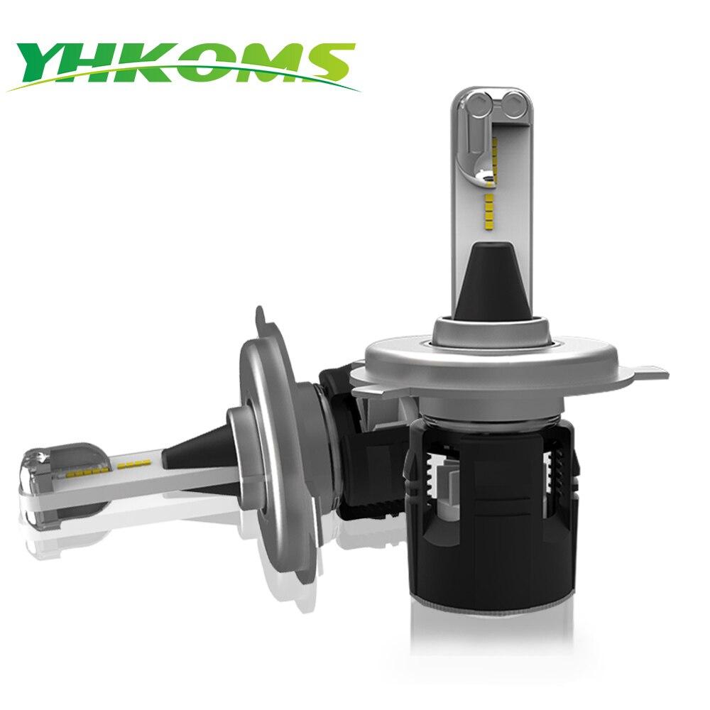 YHKOMS H4 H7 H1 H3 9005 HB3 9006 HB4 H8 H9 H11 LED lampadina Hi-Lo Fascio Faro Auto Della Luce di Nebbia CSP Chip 48 W 7200LM Faro
