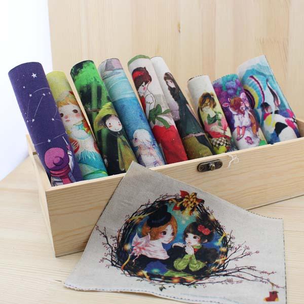 Comic Cartoon Diy Felt Linen Cotton Fabric Scrapbooking Cloth Dolls