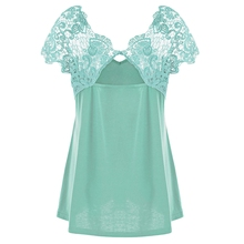 Gamiss Summer Plus Size Lace T-Shirt