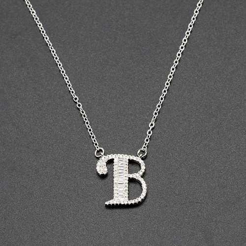 MEIBEADS inicjały litery Hip Hop Charms naszyjniki wisiorek łańcuch srebrny Bling cyrkon męskie letnie wisiorek – biżuteria