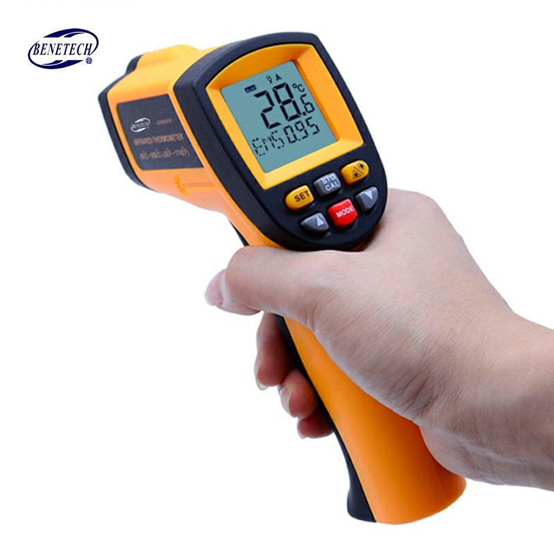 With Carry BOX Non-Contact Precise Digital IR Laser Infrared Pointer Thermometer GM900 -50C~950C цена