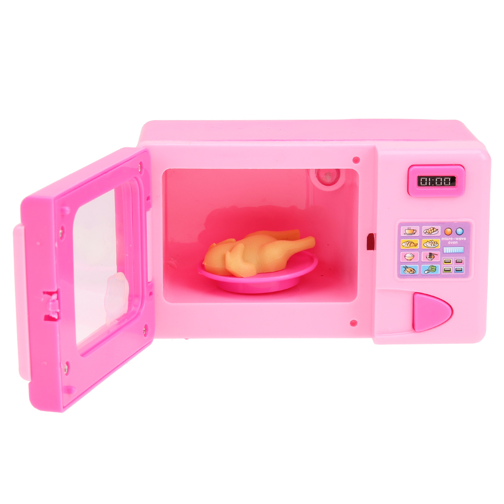Baby Girls Pretend Play Funny Toys Mini Microwave Toys Kids Girls Simulation Kitchen Toy Children Play Oven Kids Play House Toy