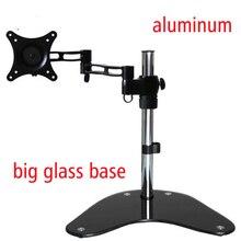 DL-T602 full motion rotate grommet mounting aluminum single lcd tv mount led desk monitor desk support Led bracket