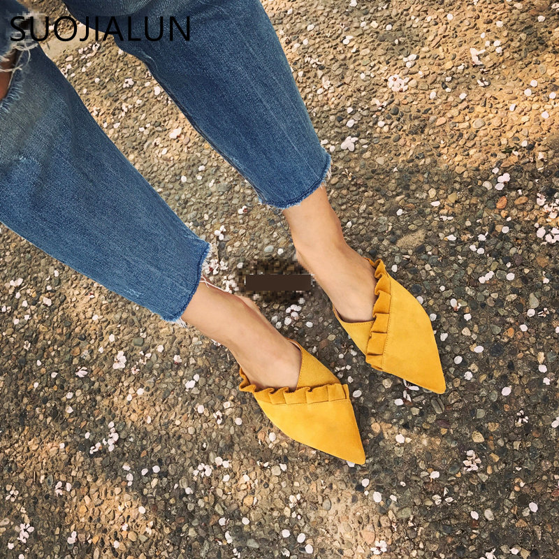 Brand 2018 Autumn Women Slippers Slip On Slides Fashion Mules Flat Women Casual Shoes Plus Size 35-41 Fabric Platform Loafer phyanic fashion women s slide on slip on mule star bee embroidery loafer flats shoes slides slippers new woman mules outside