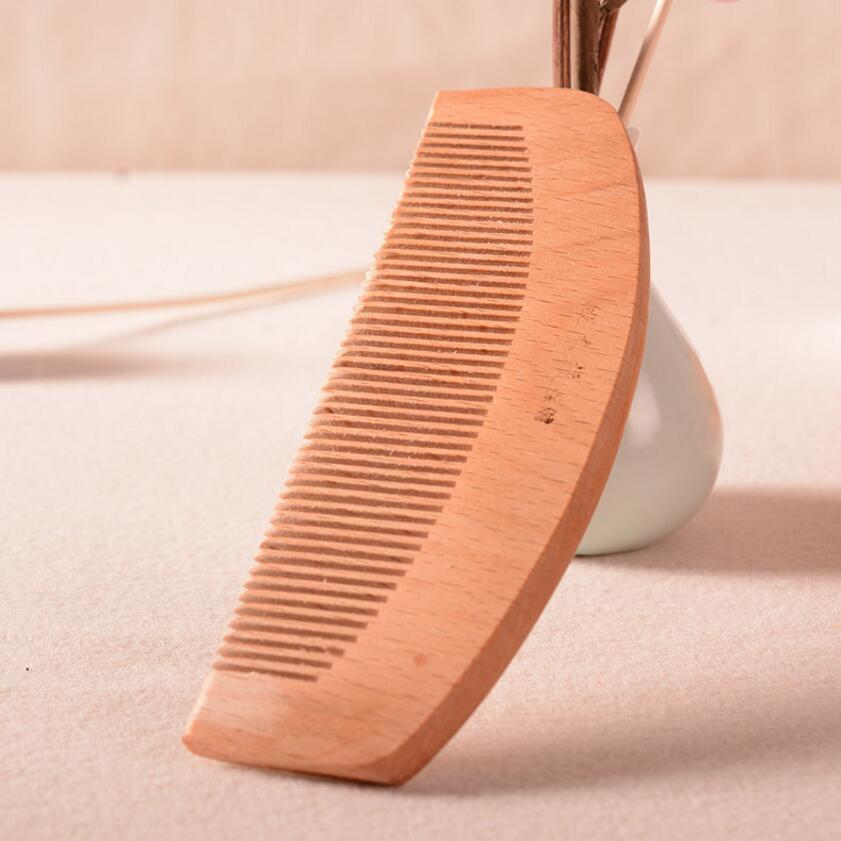 500PCS Handmade fashion hair green jade sandalwood sandalwood comb anti static comb massage health comb SE13