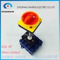 Isolator Switch YMD11 63B 4P 690V With Padlock Aluminum Pole 63A Load Break Power Cut Off