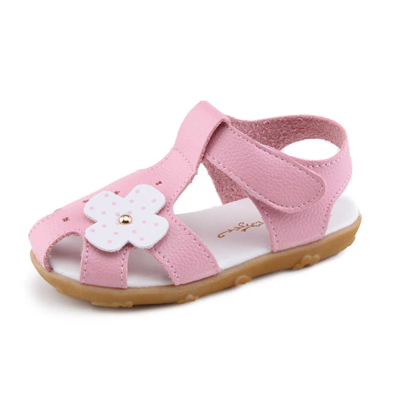 Floral Summer PU Leather Children Sandals Toddler Girls Orthopedic Shoes Super Quality Kids Summer Shoes Fashion Soft Flowers