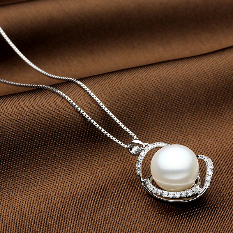Sinya Natural pearls jewelry set with Ring Earring and Necklace in 925 Sterling silver pearl diameter 10-13mm 2017 new arrival