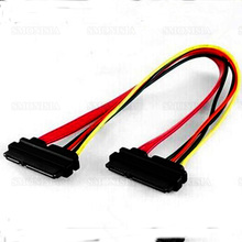 10pcs- 500pcs Sata Data Cable Female to Female 7+15 Hard Disk Power Wire 50cm