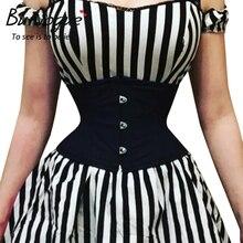 Burvogue, корсеты для талии, для похудения, корректирующий пояс, короткий торс, атласный корсет под грудь, сексуальный, на шнуровке, бюстье и корсеты для женщин