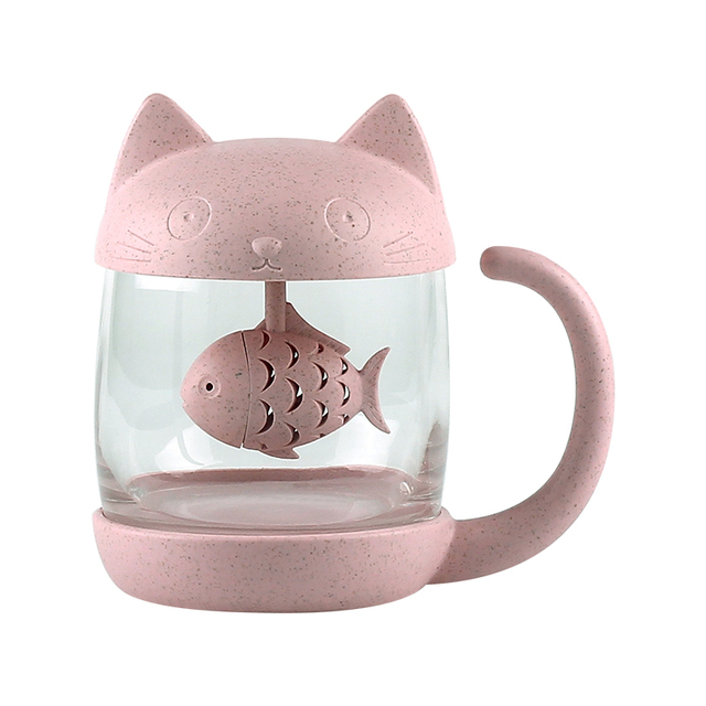 Cute Creative Glass Breakfast Mugs