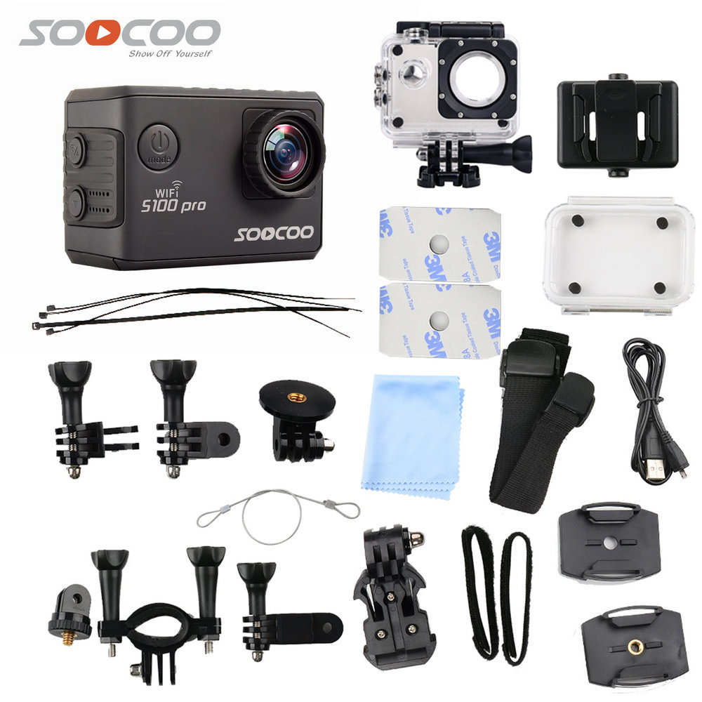 SOOCOO S100 PRO Action Camera Ultra HD 4K Touch Screen WiFi Go Waterproof pro Camera GPS gyrometer Image Stabilization action camera deportiva eken v8s ultra hd 4k ambarella a12 wifi electronic image stabilization go waterproof pro sport dv camera