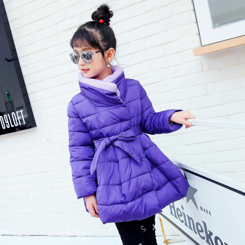 2017 Fashion Baby Girls Winter Coat Jacket Warm Kids Overcoat Thicken Long Sleeve Warm Children Cardigan Down Cotton Clothes autumn warm winter baby girls infants kids children cashmere thicken cotton jacket cardigan coat outwear roupas casaco s5724