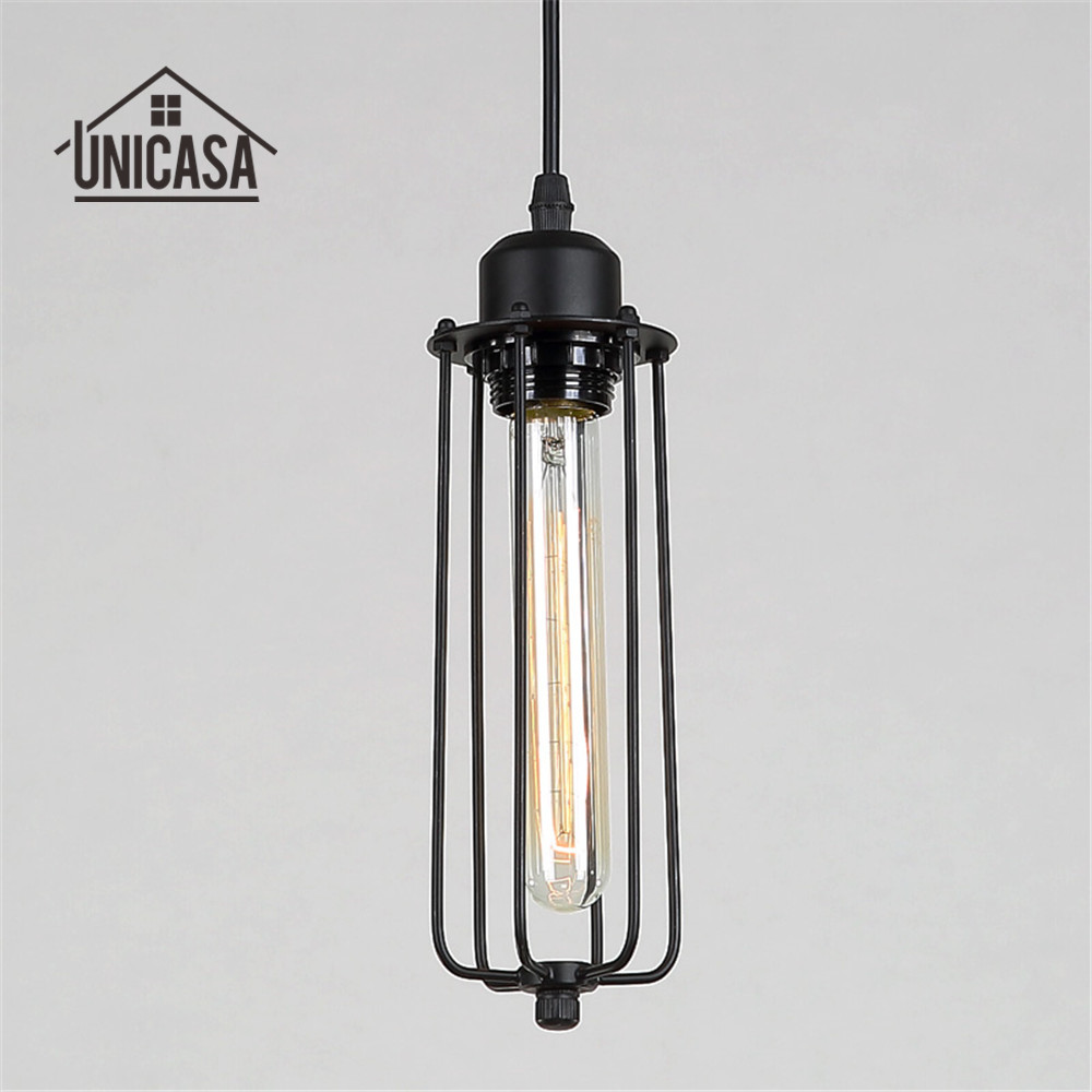Us 24 12 48 Off Antique Wrought Iron Lighting Fixtures Black Metal Pendant Lights Industrail Kitchen Island Living Room Modern Led Ceiling Lamp In