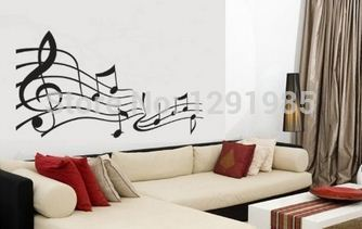 Wall Decal Sticker Removable Music Notes home decor decal stickers quotes 2017 fashion Poster