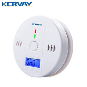 CO Gas Sensor Alarm Accessory LCD Digital Screen Carbon Monoxide Alarm Detector for Home Security Automatic Alarm