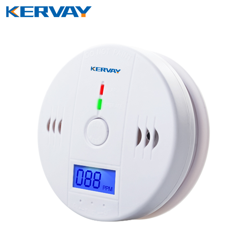CO Gas Sensor Alarm Accessory LCD Digital Screen Carbon Monoxide Alarm Detector for Home Security Automatic