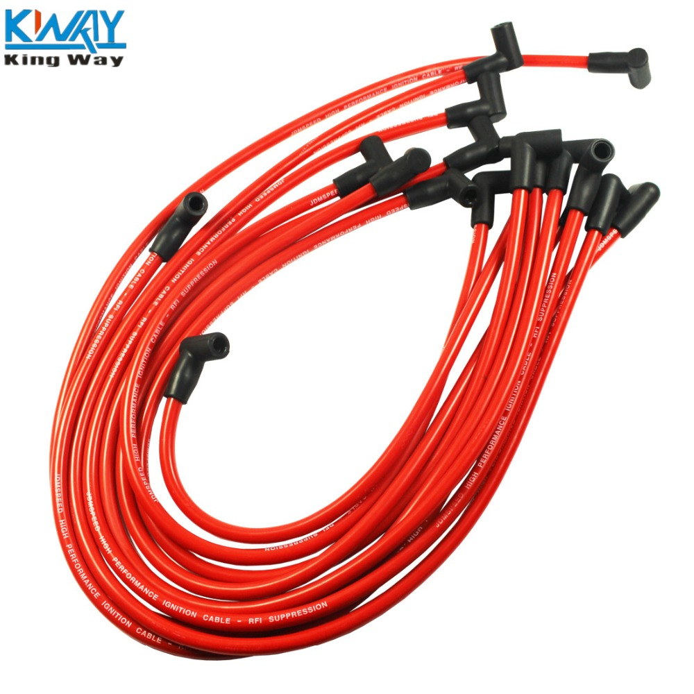 Wire-Set Spark-Plug SBC350 High-Performance 383 454 HEI BBC Way-Red