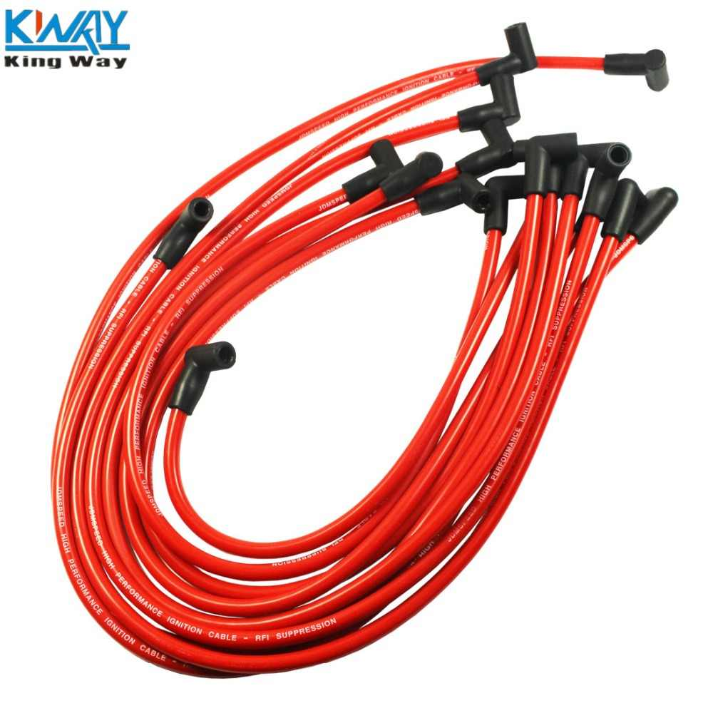 FREE SHIPPING-King Way- RED High Performance 10.5 MM Spark Plug Wire Set HEI SBC BBC 350 383 454 SBC350
