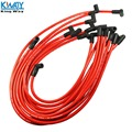 FRETE GRÁTIS-Maneira Rei-RED High Performance 10.5 MM Spark Plug Fio Set HEI SBC BBC 350 383 454 SBC350