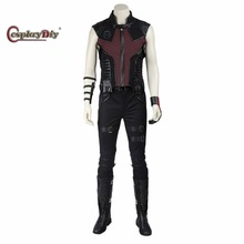 Custom Made The Avengers 1 Hawkeye Cosplay Costume Clint Barton Adult Men Halloween Carnival Cosplay Outfit With Shoes
