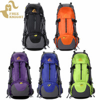 50L Outdoor Mountaineering Rucksack Backpack Travel Hiking Camping Climbing Bags Splatterproof Waterproof With Rain Cover