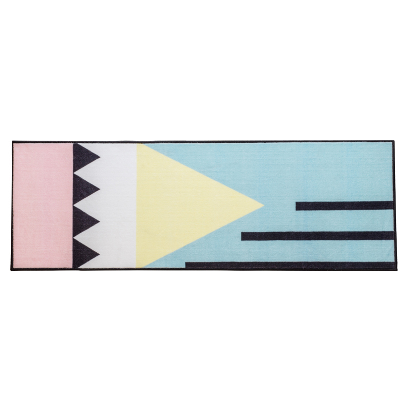 Tapis moderne motifs géométriques simplifiés tapis coureur salon tapis anti-dérapant tapis lavable pour chambre/paillasson/tapis de sol