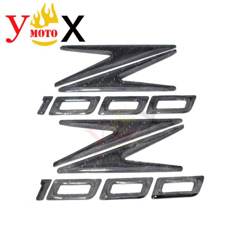 Carbon Fiber Z 1000 Battery Cover Emblem Side Fairing Panel Badge Sticker Tank Wheel Decal Logo Symbol Mark For KAWASAKI Z1000