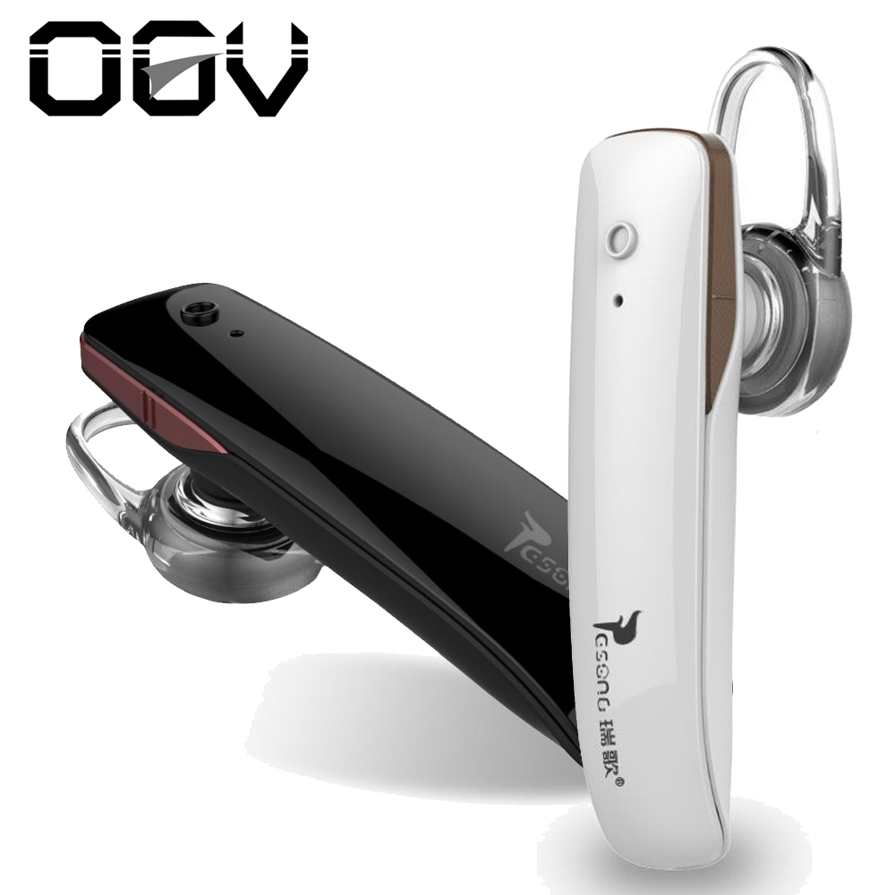 OGV Handfree Wireless Bluetooth 4.0 Stereo Headset for Mobile Phone Business Earphones Earpiece Noise Cancelling Earbud
