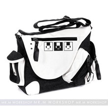 Anime DRAMAtical Murder DMMD Cosplay Messenger Bag Patent Leather Canvas Travel Crossbody Bags