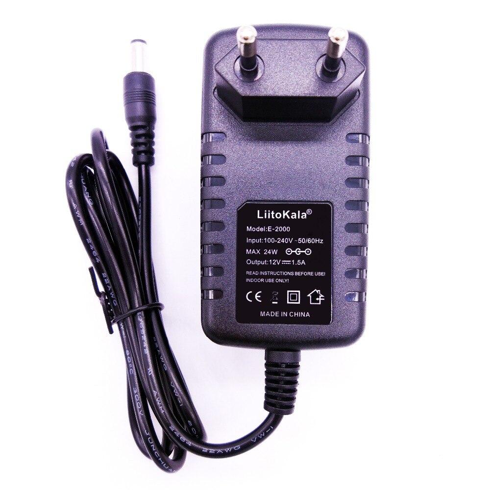 Liitokala 12 v 1.5a adaptador para lii-260 lii-300, 12 v 2a adaptador para lii-400 lii-500 carregador de bateria