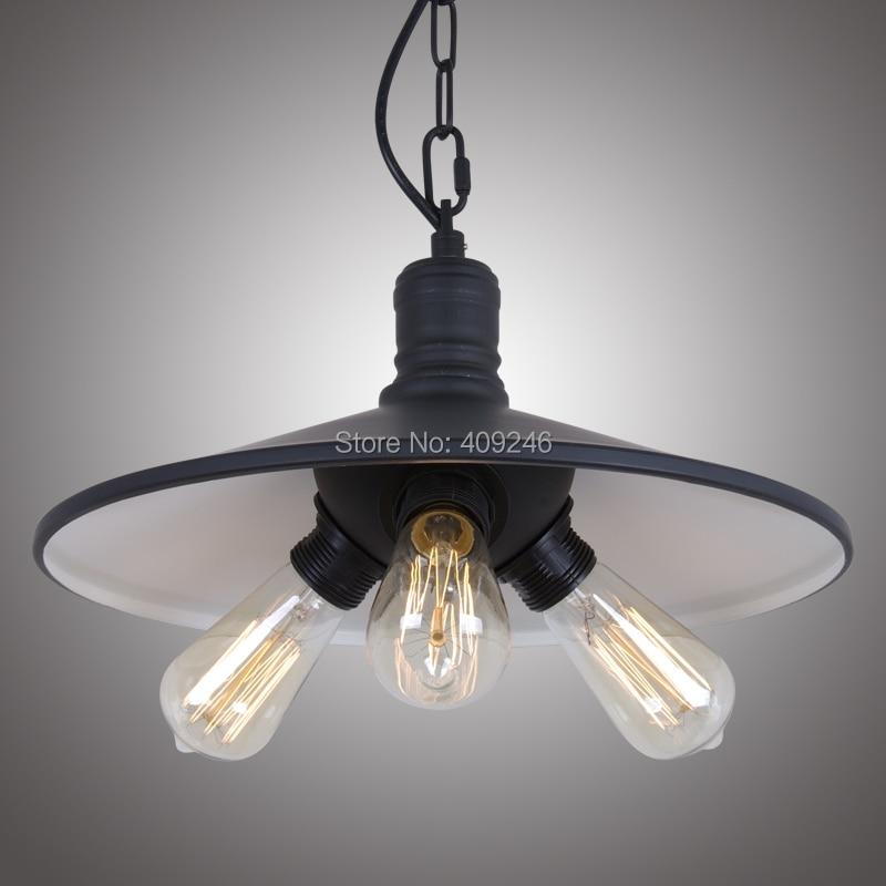 ФОТО 3 Holders E27 Black Edison RH Loft droplight Ceiling Lamp Pendant For Clothing shop Cafe Bar