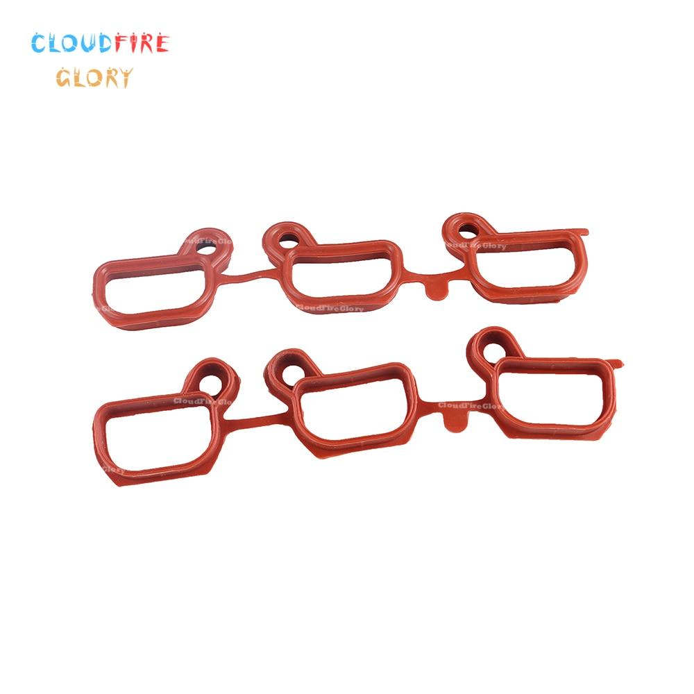 CloudFireGlory 11611436631 Engine Intake Manifold Gasket Set For BMW 325i 325xi 330i 330xi 525i 530i 2001 2002 2003 2004 2005