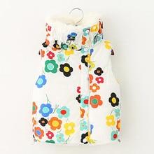 Girls Winter Clothes Children Cotton Vest Flower Kids Thick Velvet Baby Jackets Coats Hoodies