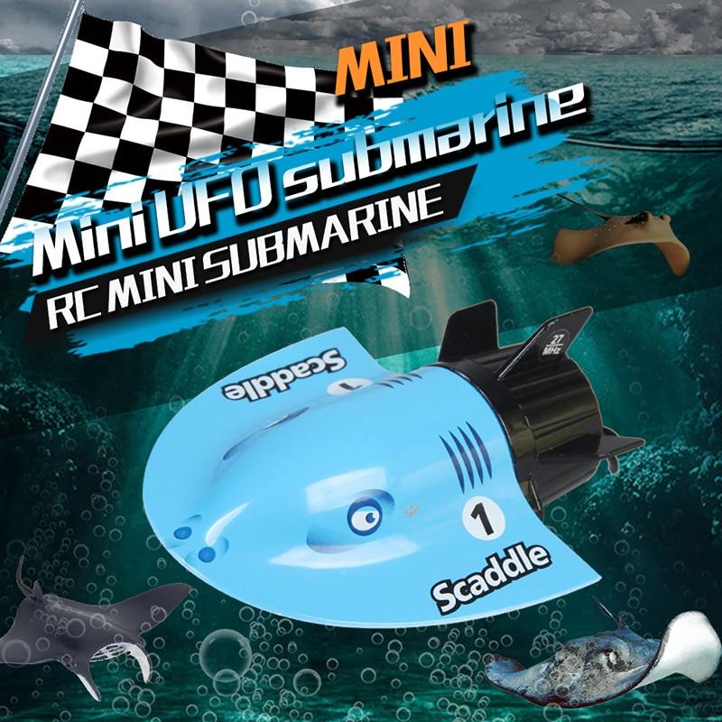 Ferngesteuertes U-boot Analytisch Fernbedienung Rc Submarine Schiff 4ch High Speed Rc Schiff Mini Submarine Modell Elektrische Boot Außen Spielzeug Für Kinder Verpackung Der Nominierten Marke