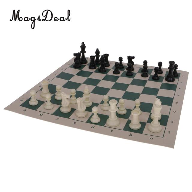 MagiDeal Mini Portable Folding Magnetic Travel Chess Set King 64mm ...