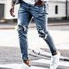 New Skinny Jeans men Streetwear Destroyed Ripped     1