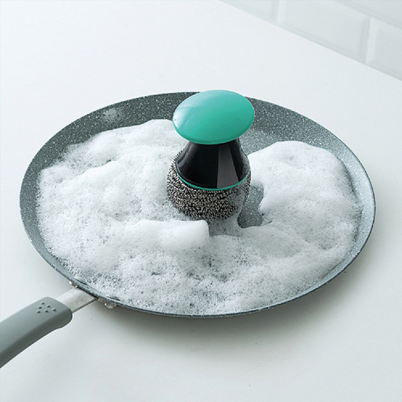 Magic Cleaner Stainless Steel Bowl Cleaning Brush Bowl Dish Cleaning Scourer Household Kitchen Pot Wash Tool kitchen accessories