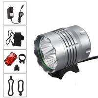 Waterproof 9000 Lm 4x T6 LED Head Front Bicycle Light Headlamp Safety Cycling Bike Lamp Headlight with Rechargeable Battery Pack